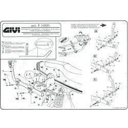GIVI - GIVI 1000F UNIVERSAL MONORACK ARKA ÇANTA TASIYICI (1)