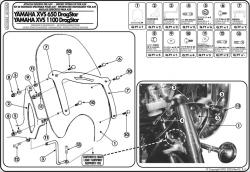 GIVI - GIVI AS102A2 YAMAHA XVS 650-1100 DRAGSTAR CLASSIC RÜZGAR SIPERLIK BAGLANTISI (1)