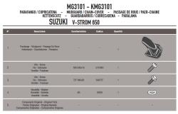 GIVI - GIVI MG3101 SUZUKI DL 650 V-STROM (11-16) ZINCIR MUHAFAZA VE ÇAMURLUK (1)