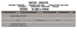 GIVI - GIVI MG3105 SUZUKI DL 1000 V-STROM (14-15) ZINCIR MUHAFAZA VE ÇAMURLUK (1)