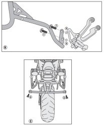 GIVI - GIVI PL2122CAM YAMAHA MT-09 TRACER (15-17) YAN ÇANTA TASIYICI (1)
