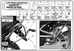 GIVI - GIVI PL351 YAMAHA FZ6 - FZ6 600 FAZER (04-06) YAN ÇANTA TASIYICI (1)