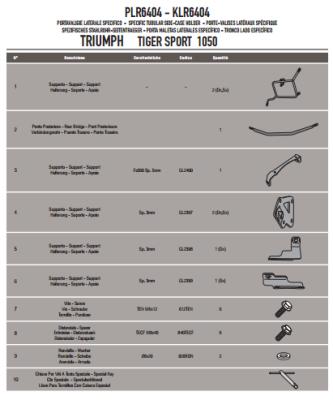 GIVI PLR6404 TRIUMPH TIGER SPORT 1050 (13-18) YAN ÇANTA TASIYICI