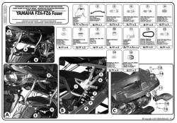 GIVI - GIVI PLX351 YAMAHA FZ6 - FZ6 600 FAZER (04-06) YAN ÇANTA TASIYICI (1)