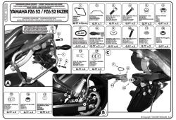GIVI - GIVI PLX360 YAMAHA FZ6 S2 - FZ6 600 FAZER S2 (07-11) YAN ÇANTA TASIYICI (1)