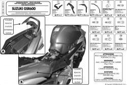 GIVI - GIVI SR116 SUZUKI GSR 600 (06-11) ARKA ÇANTA TASIYICI (1)