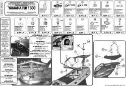 GIVI - GIVI SR346 YAMAHA FJR 1300 (01-05) ARKA ÇANTA TASIYICI (1)