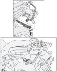 GIVI - GIVI SRA3105 SUZUKI DL 1000 V-STROM (14-16) ARKA ÇANTA TASIYICI (1)