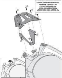 GIVI - GIVI SRA5106 BMW C 650GT (12-18) ARKA ÇANTA TASIYICI (1)