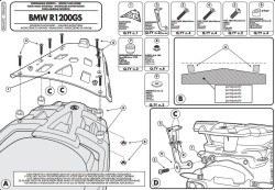 GIVI - GIVI SRA692 BMW R 1200GS (07-12) ARKA ÇANTA TASIYICI (1)