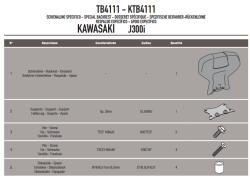 GIVI - GIVI TB4111 KAWASAKI J300 (14-17) SISSYBAR (1)