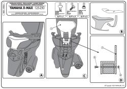 GIVI - GIVI TB55 YAMAHA X-MAX 125-250 (10-13) SISSYBAR (1)