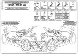 GIVI - GIVI TE1102 HONDA HORNET 600 (11-13) - CBR 600 F (11-13) YAN KUMAS ÇANTA TASIYICI (1)