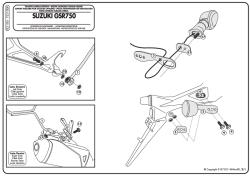 GIVI - GIVI TE3100 SUZUKI GSR 750 (11-16) YAN KUMAS ÇANTA TASIYICI (1)