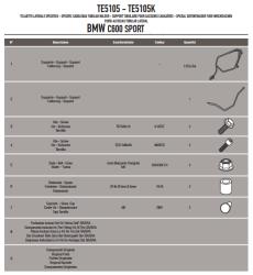 GIVI - GIVI TE5105 BMW C 600 SPORT (12-15) YAN KUMAS ÇANTA TASIYICI (1)