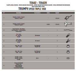 GIVI - GIVI TE6402 TRIUMPH SPEED TRIPLE 1050 (11-15) YAN KUMAS ÇANTA TASIYICI (1)