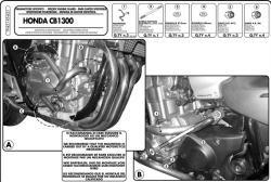 GIVI - GIVI TN451 HONDA CB 1300 - CB 1300S (03-15) KORUMA DEMIRI (1)