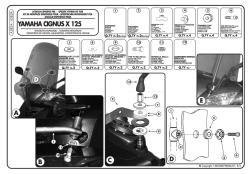KAPPA - KAPPA A283AK YAMAHA CIGNUS X 125 (07-15) RÜZGAR SIPERLIK BAGLANTISI