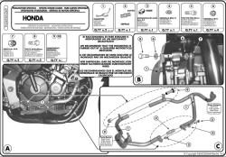 KAPPA - KAPPA KN369 HONDA CBF 600S -600N (04-12) KORUMA DEMIRI (1)