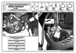 KAPPA - KAPPA KN455 HONDA XL 700V TRANSALP (08-13) KORUMA DEMIRI (1)
