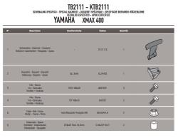 KAPPA - KAPPA KTB2111 YAMAHA X-MAX 125-250-400 (13-17) SISSYBAR (1)