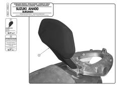 KAPPA - KAPPA KTB531 SUZUKI BURGMAN 400 (06-16) SISSYBAR (1)