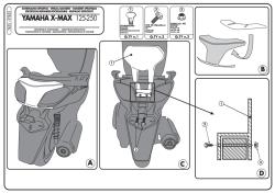 KAPPA - KAPPA KTB55 YAMAHA X-MAX 125-250 (10-13) SISSYBAR (1)