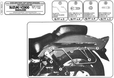 KAPPA TK251 SUZUKI VZ 800 MARAUDER (97-02) YAN KUMAS ÇANTA TASIYICI